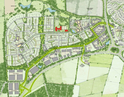 This is a colourful map image of the Perth West project.